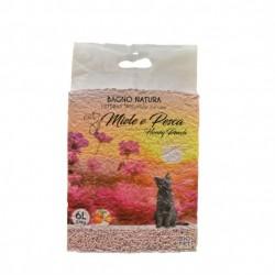 Officinalis bagno natura, lettiera agglomerante naturale per gatto miele e pesca
